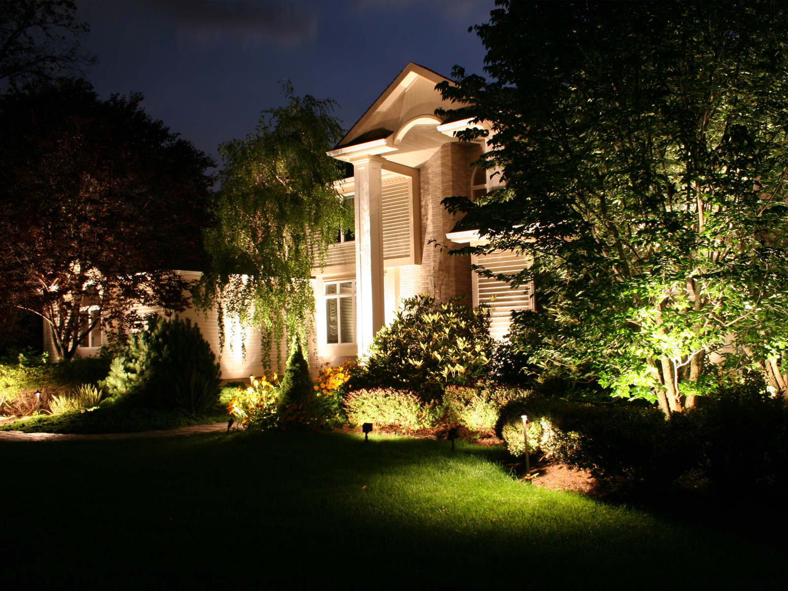 Outdoor lighting landscape lighting pezzotti brothers inc outdoor lighting west chester pa aloadofball Gallery