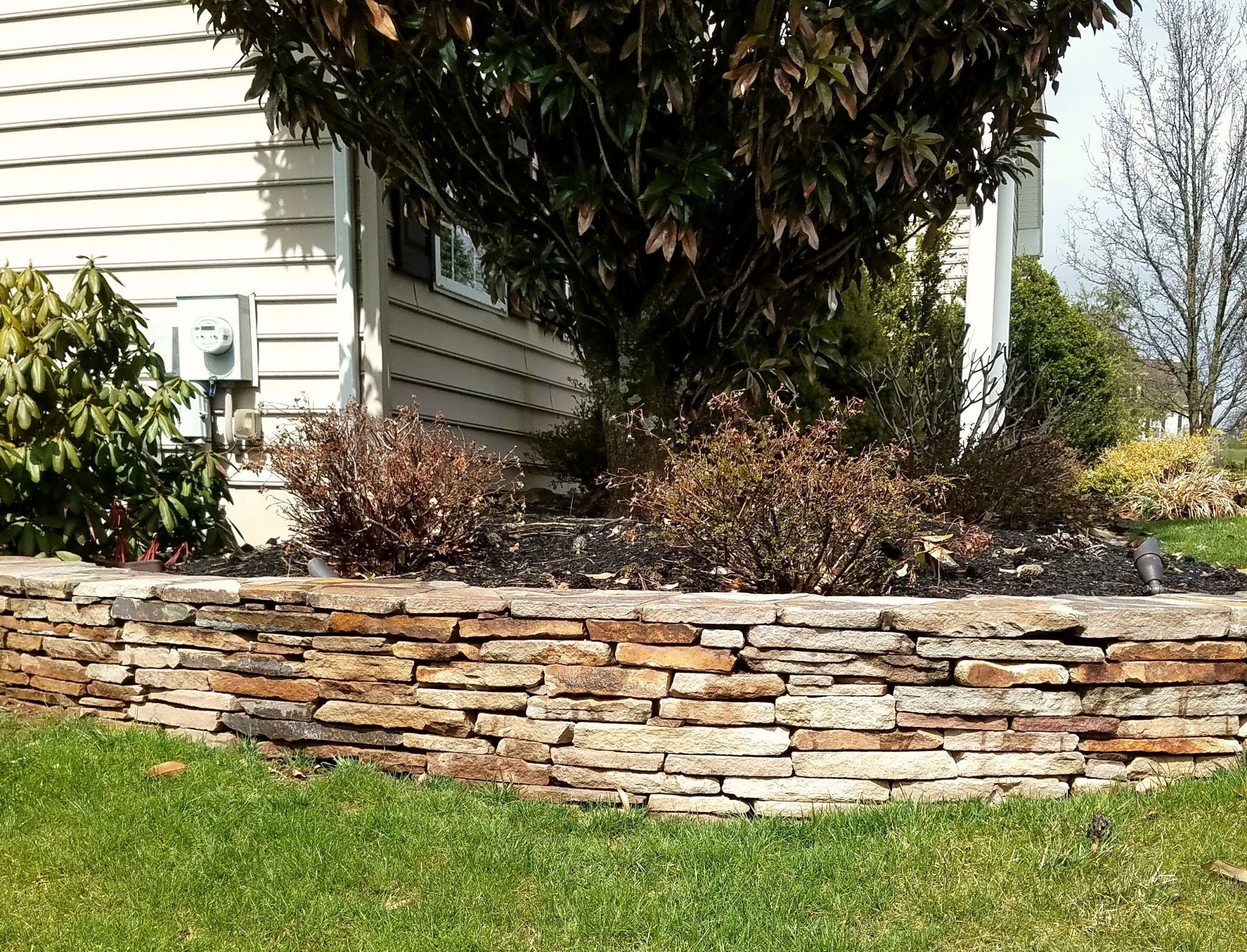 Natural Stone Retaining Wall Pezzotti Brothers Inc