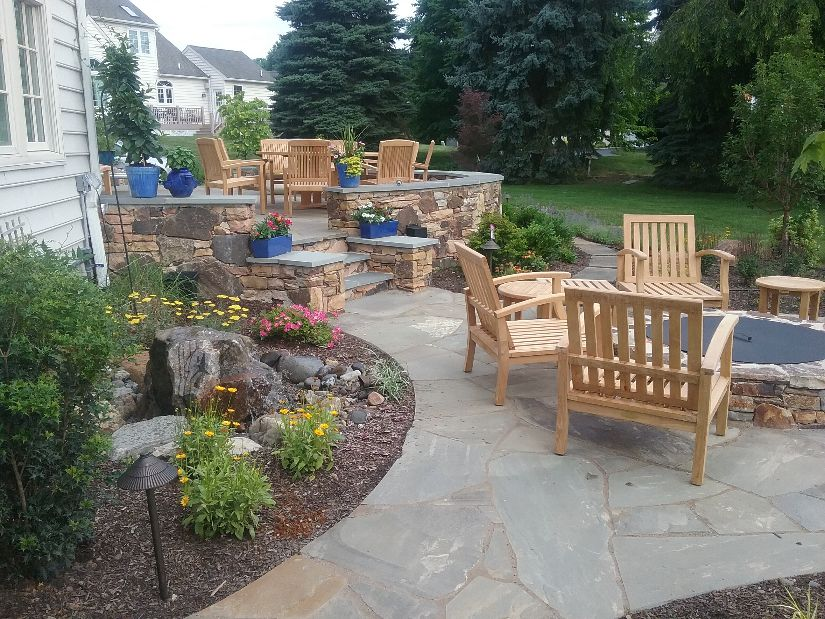 July 18, patio and fire pit
